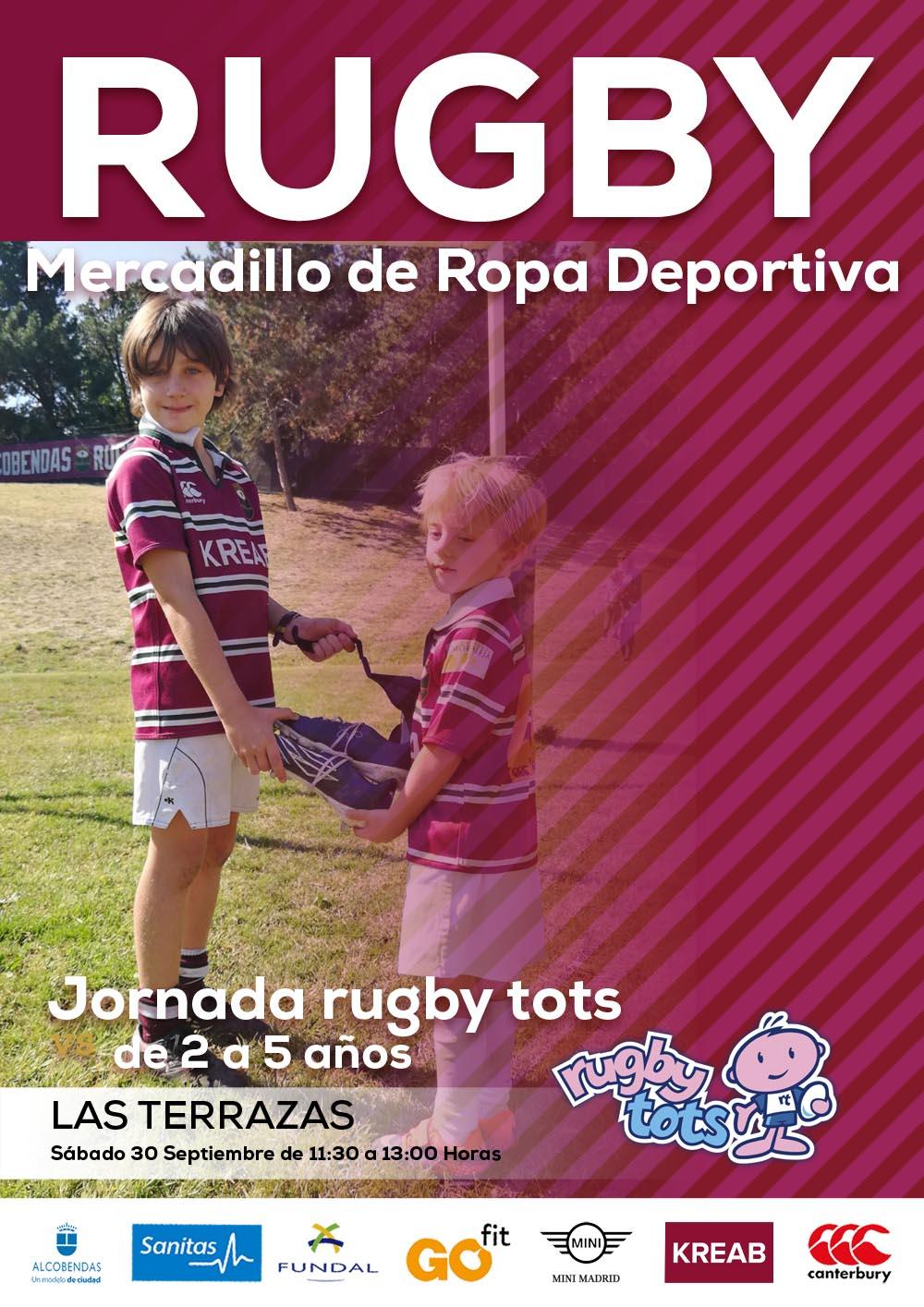 Mercadillo y Rugby Tots, novedades para la Escuela KREAB
